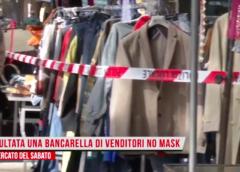 Trambusto al mercato: ambulanti senza mascherina, interviene la Polizia